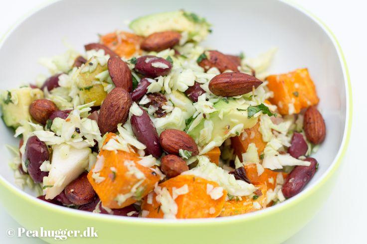 Salat med bagte, søde kartofler