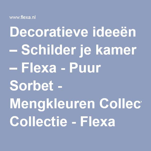 Decoratieve ideeën – Schilder je kamer – Flexa - Puur Sorbet - Mengkleuren Collectie - Flexa