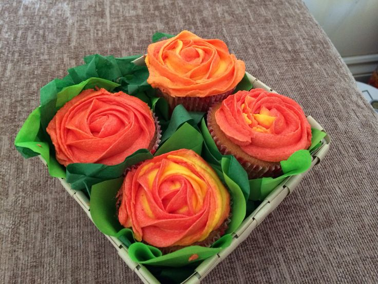 Basket of roses for Easter