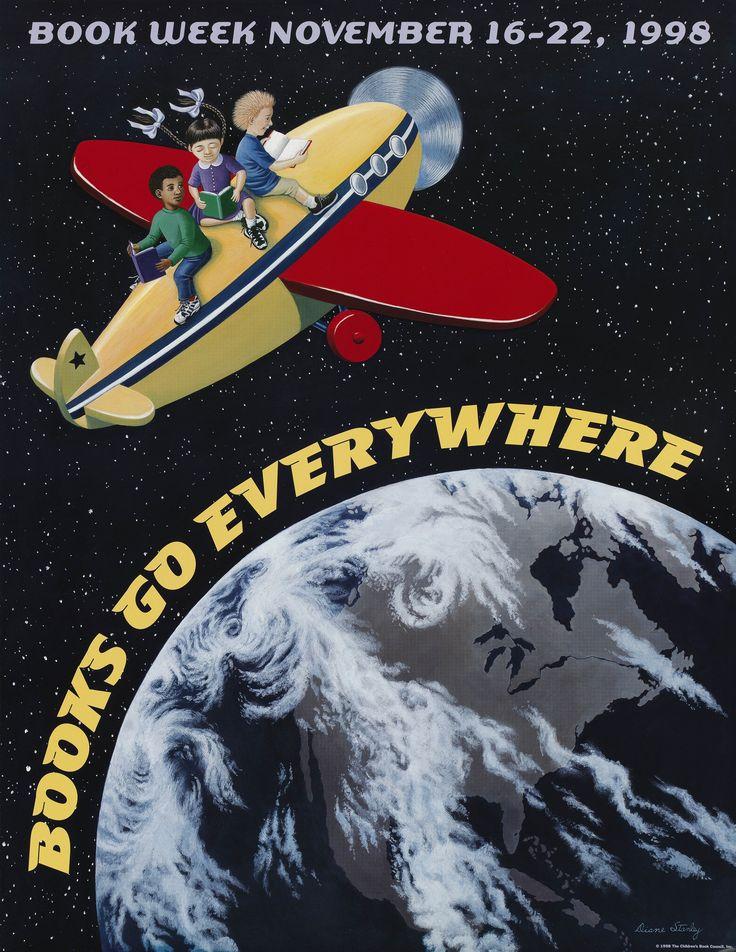 Official Children's Book Week poster, 1998, Diane Stanley (B. 1943)