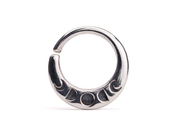Moon Phases Septum Ring Nose Ring Body Jewelry by RebelOcean