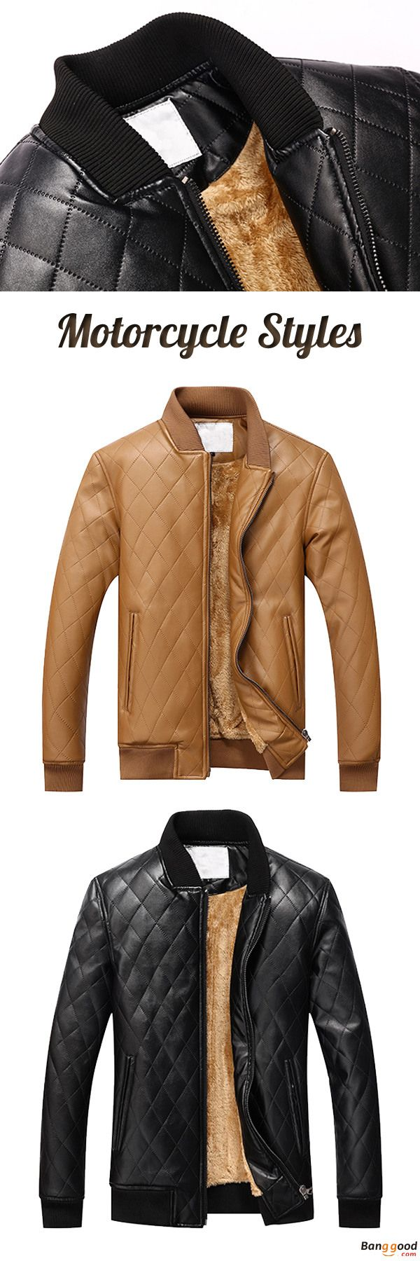US$68.15 + Free Shipping. Mens PU Leather Motorcycle Thick Fleece Winter Jacket Casual Solid Color Baseball Collar Coat. Adventure Awaits Around Every Bend, Tackle Your Next Exploit In These Jackets.