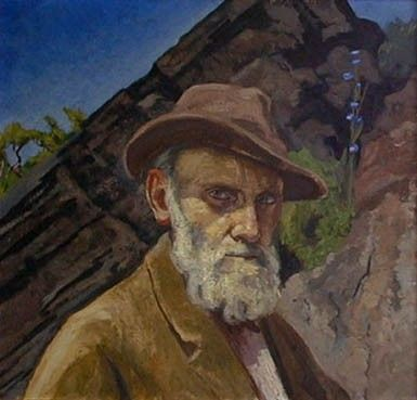 autorretrato Dr. Atl, pintor y escritor Jalisiense.