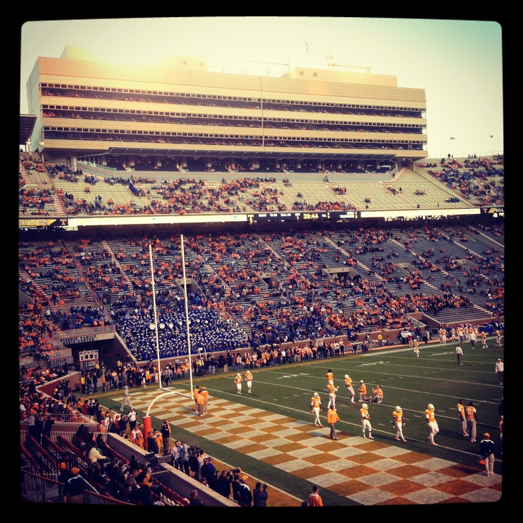 The ultimate Knoxville experience, a UT game at Neyland Stadium.~ cannot count how many times my dad went to the games with his season tickets. My mom ,sister and I went shopping for the day at Millers~what fun memories~