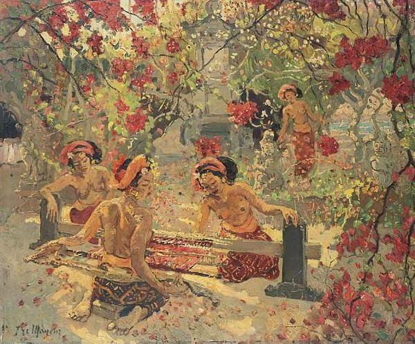 Adrien-Jean Le Mayeur de Merfres - Gadis-gadis Bali