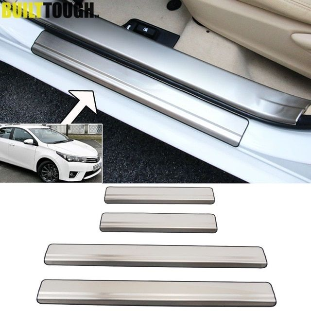 4x For Toyota Corolla Altis 2014 2015 2016 2017 Stainless Steel Door Sill Panel Scuff Plate Kick Step Cover Tr Steel Doors Stainless Steel Doors Toyota Corolla