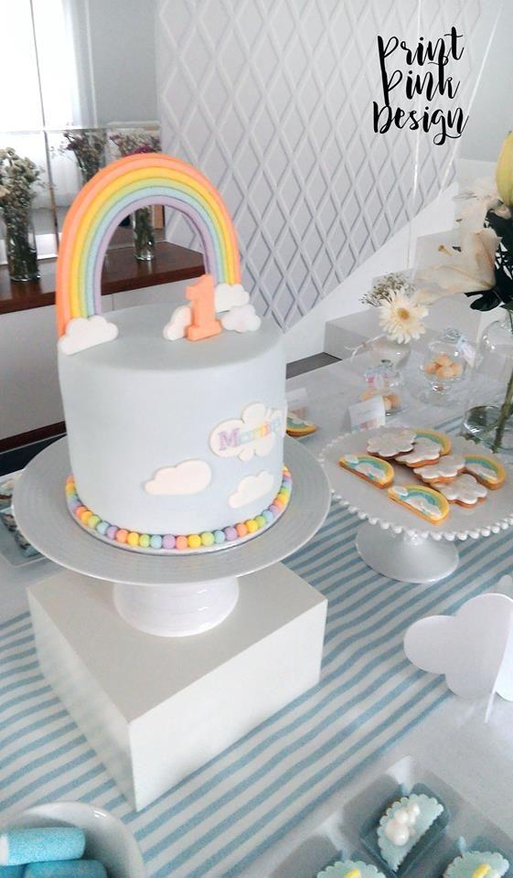 Cloud cake by Pretty in Sugar | Mesa Decorada por Print Pink Design