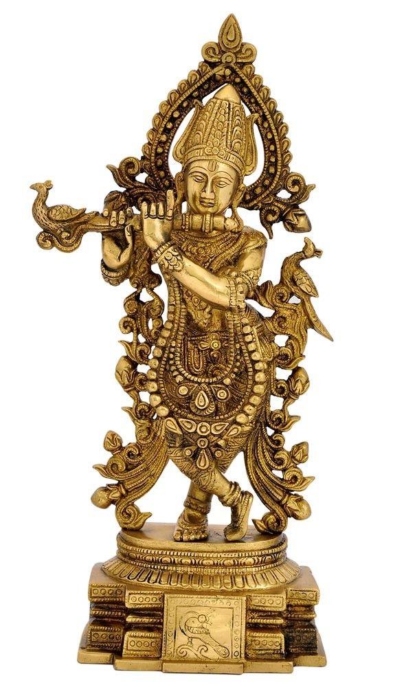 Brass Sculpture 'Venugopal Krishna'