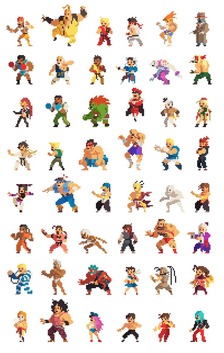A while back, my brother and I made an update to the mini Street Fighter pixel characters and since...