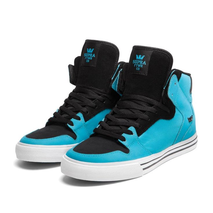Supra Infants Vaider Blue Black White Skate Shoes yLvuNT