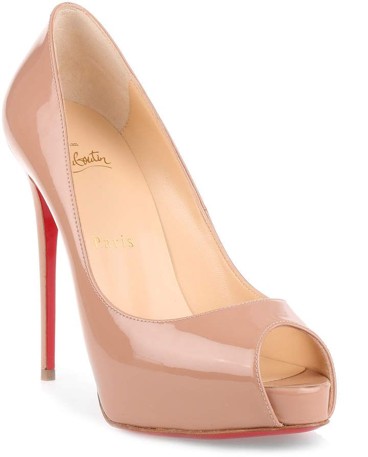 7acdb668913 Christian Louboutin New Very Prive 120 patent nude pump  women  sandals   fashion  fashionweek  gifts  guide  feshionable  BlackTieLooks  ShopStyle  ...