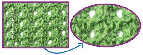 Cómo tejer el punto disminución doble con calados