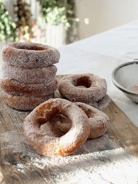 Pumpkin & cheese donuts with cinnamon sugar
