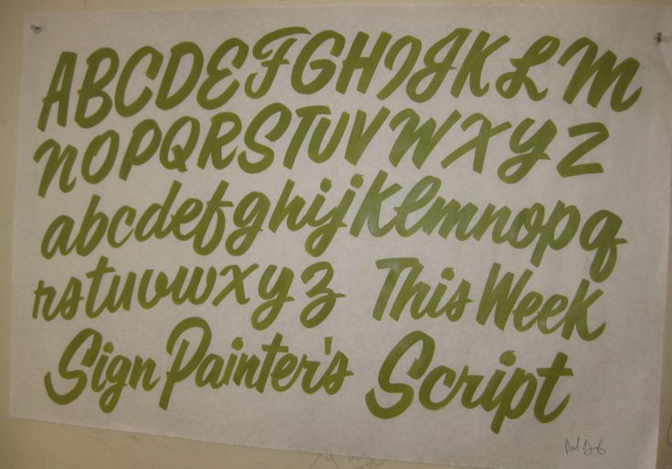 Sign Painter's Script