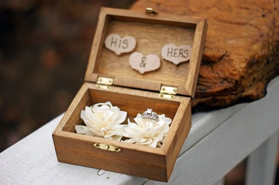 Wedding Ring Box Wedding Ring Holder Ring by CountryBarnBabe