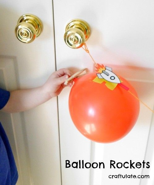 Balloon Rockets - a classic activity that kids will love!