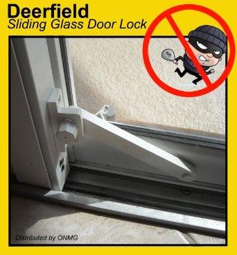 Deerfield Sliding Glass Door Deadbolt Lock (Aluminum Frame - White) - Amazon.com $19.95