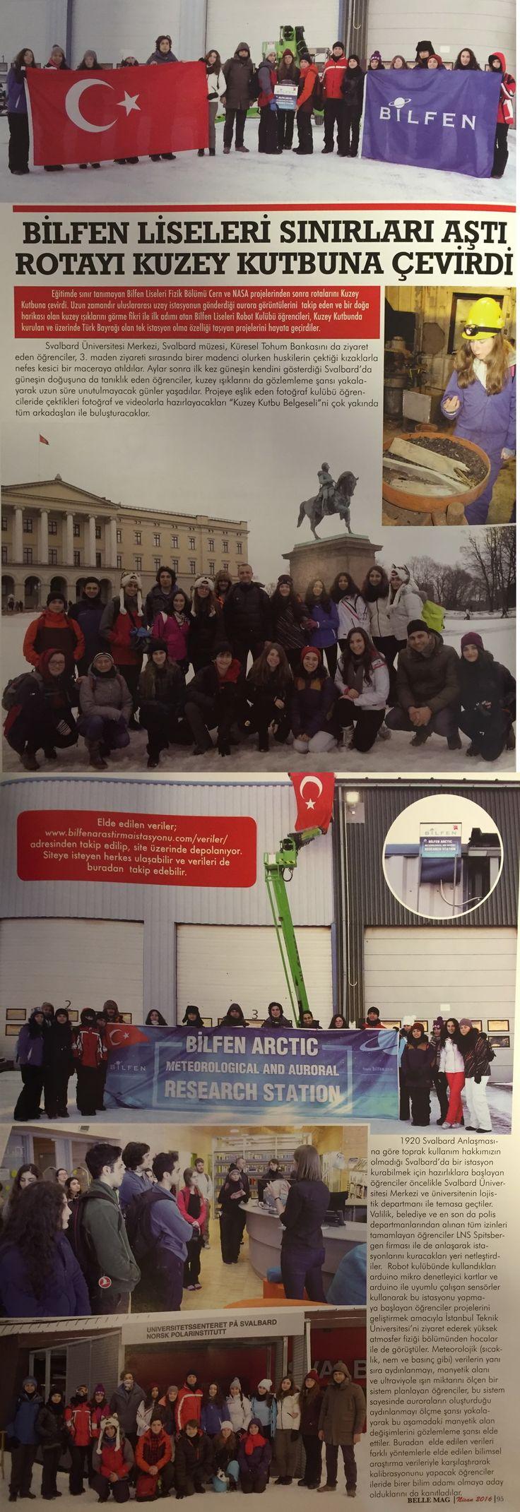 Belle Magazin Dergisi 01.04.2016   Basın Haberleri - Bilfen Okulları | Anaokulları | İlköğretim Okulları | Liseler