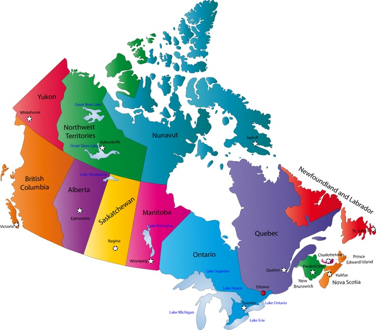 Map of Canada - Fun Facts about Canada