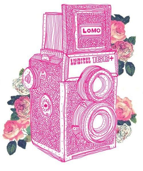 Lomo Lubitel 166+ Camera Illustration. #Camera #Photography