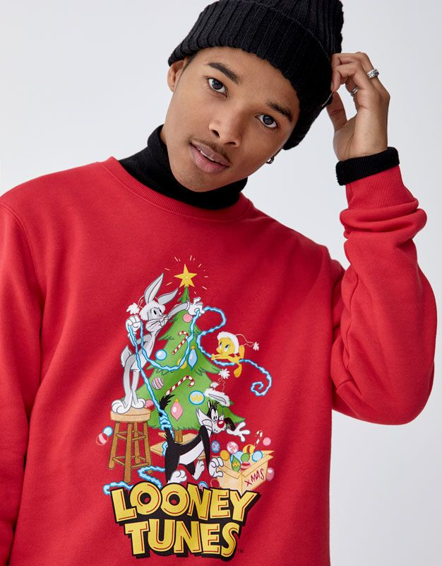 Looney Tunes Christmas Sweatshirt Pull Bear Christmas Sweatshirts Looney Tunes Looney