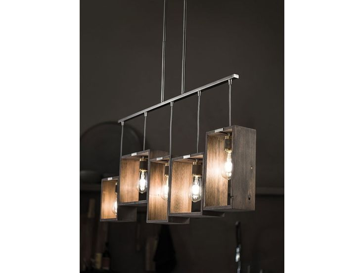 Industrial Frames 5 Light Linear Chandelier CLP