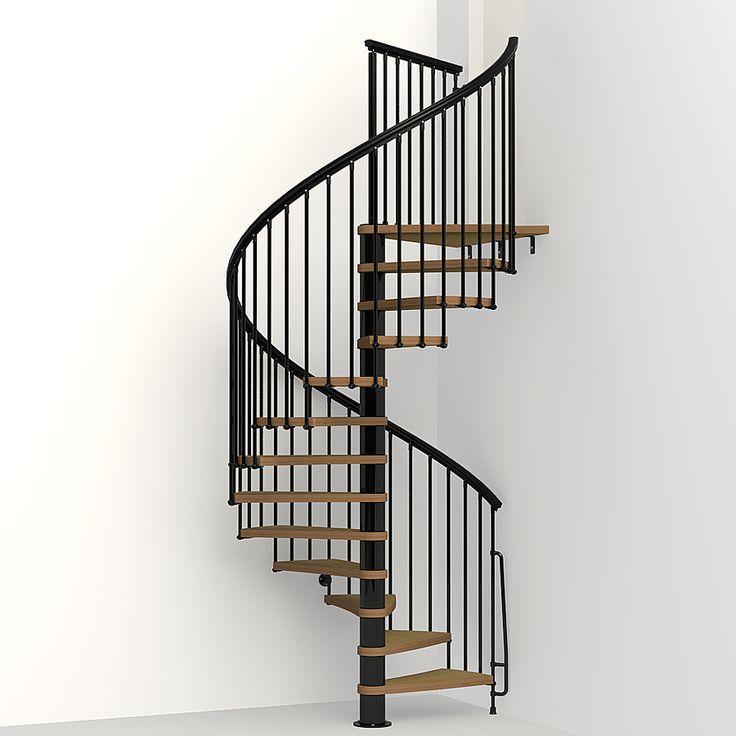 Arke Nice1 63-in x 10-ft Black Spiral Staircase Kit