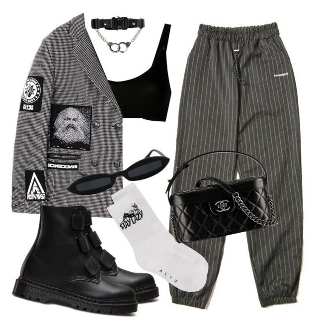 """""""Untitled #545"""" by youraveragestyle ❤ liked on Polyvore featuring KTZ, Alyx, Dr. Martens and Chanel"""