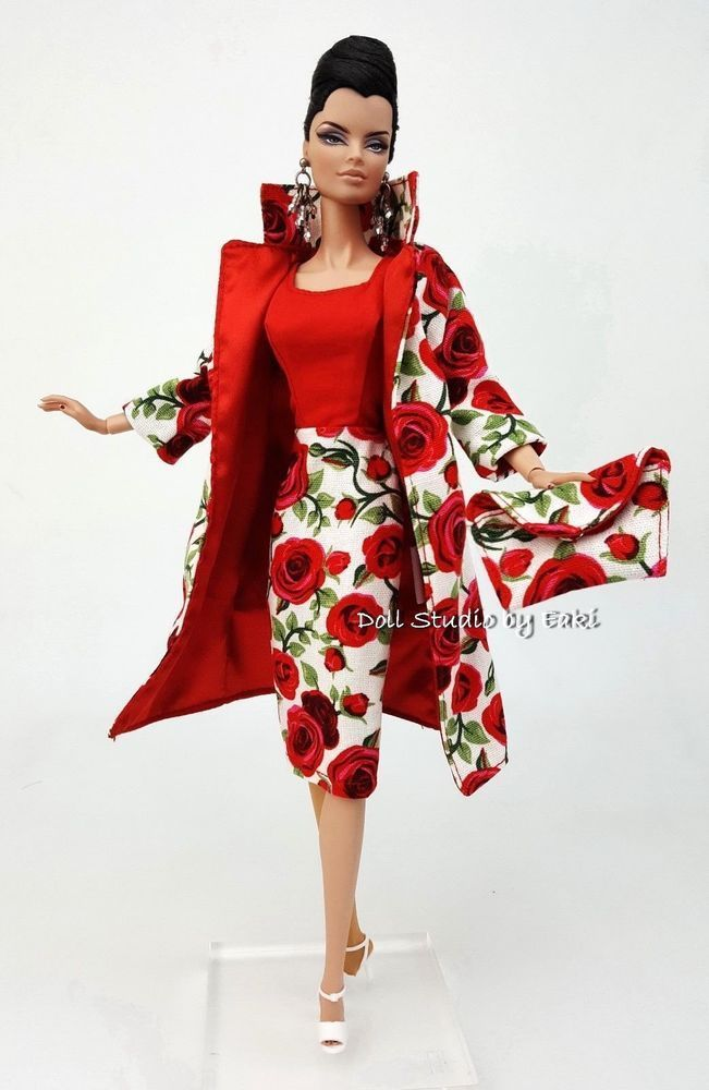 Silkstone Coat Dress Outfit Gown Skirt Vintage Style For Barbie Fashion Royalty
