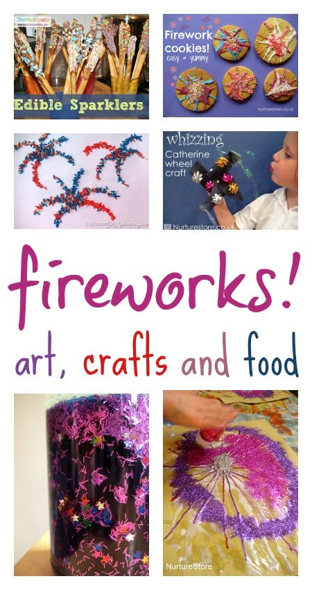 Fabulous firework art and terrific tasty treats to celebrate with your children!