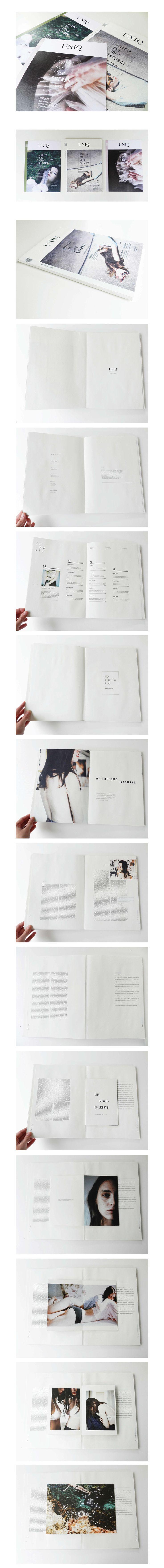 Trabajo final para Tipografía II Cosgaya 2014 Uniq una Revista de Arte y Fotografía / Uniq is a magazine based on art & vintage photography