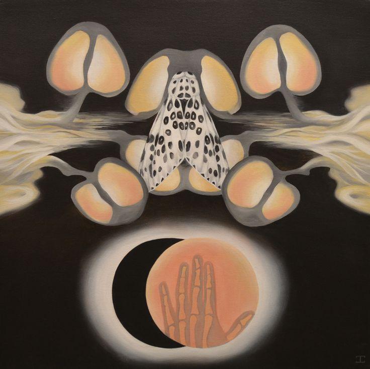 "JENNIFER CLARK - FORWARD NOCTURNAL, 2013 Acrylic on Canvas 24"" x 24"""