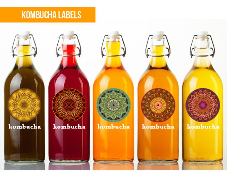 Kombucha Bottle Labels Created various labels for Om Brand Kombuchas. Each flavor features different mandala visual. graphic design | photoshop | photo editing
