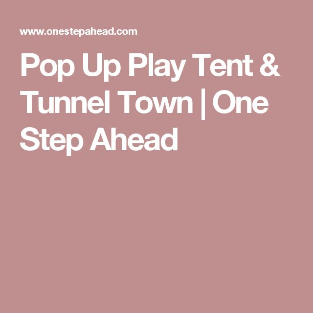 Pop Up Play Tent u0026 Tunnel Town | One Step Ahead | Kids ideas | Pinterest  sc 1 st  Pinterest & Pop Up Play Tent u0026 Tunnel Town | One Step Ahead | Kids ideas ...