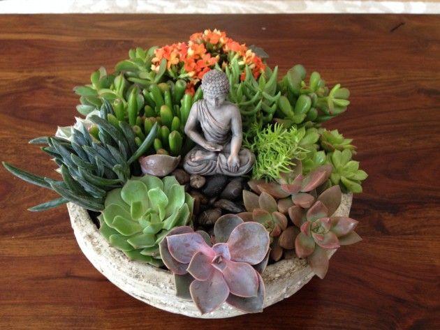 Create your own Tabletop Zen Succulent Garden