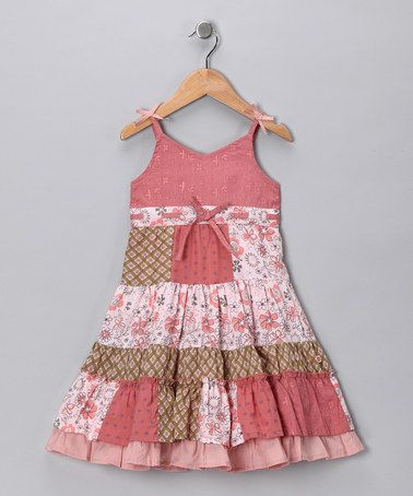 Take a look at this Pink Patchwork Dress - Toddler & Girls by Cutey Couture on #zulily today!