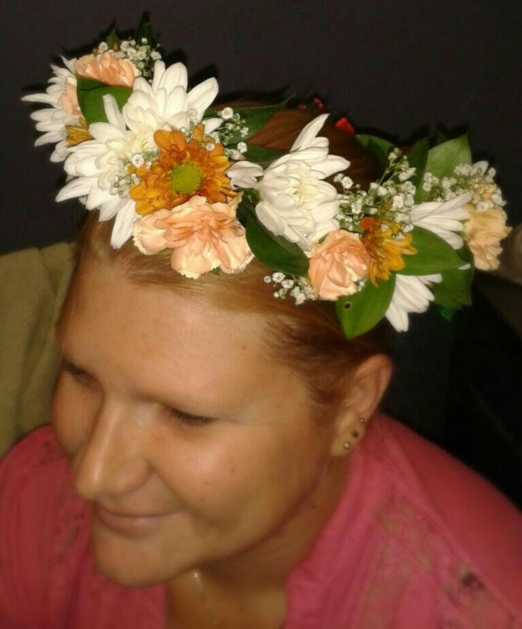 Floral hair accessory for a wedding or matric ball.