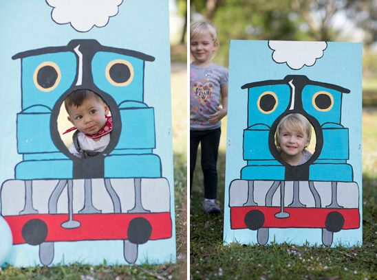thomas the train party diy | ... Train Photo Booth, Train Food Containers: DIY by mom Chrissy Trujillo