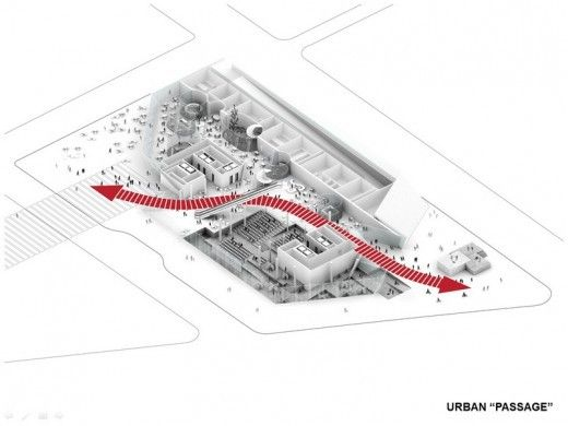 BIG, OMA, Büro-OS To Compete for New Media Campus in Berlin,Proposal from Büro-OS. Image Courtesy of Büro Ole Scheeren