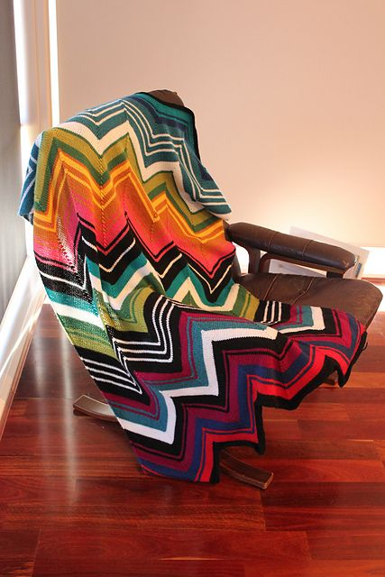 Ravelry: Project Gallery for Missoni Inspired Chevron Blanket pattern by Kelly Kingston