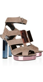 Not for me, but there's a girl out there that can rock the sh*t out 'em.  Pierre HardyColor-block suede platform sandals: Ass Shoes, Hardy Colorblock, Design Sandals, Hardycolorblock Su, Colors Block Suede, Suede Platform, Pierre Hardy, Platform Sandals, Hardy Colors Block