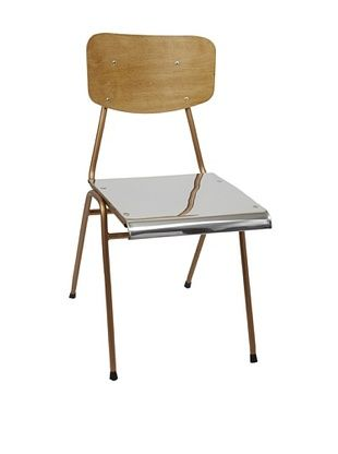 55% OFF Europe2You Polished Steel Chair