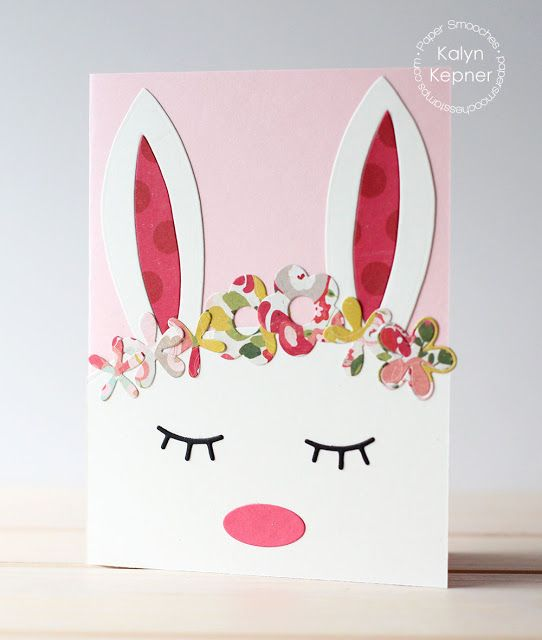 Bunny Card by Kalyn Kepner for Paper Smooches - Bunny Card Die, Pocket Dies