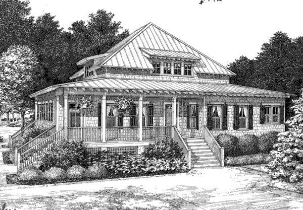 Pin by southern living on southern living house plans for Southern low country house plans