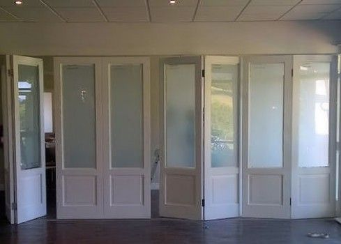 almost complete top hung stacking doors