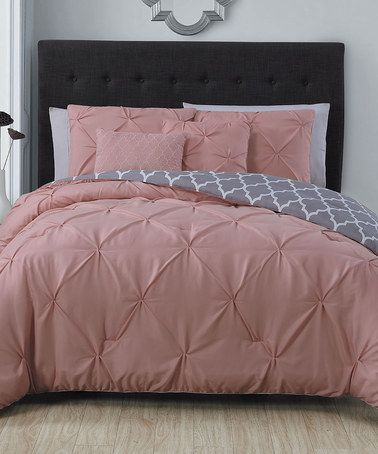 Love this Blush Madrid Five-Piece Comforter Set on #zulily! #zulilyfinds