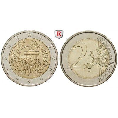 Bundesrepublik Deutschland, 2 Euro 2015, 25 Jahre Deutsche Einheit, nach unserer Wahl: 2 Euro 2015 nach unserer Wahl. 25 Jahre… #coins