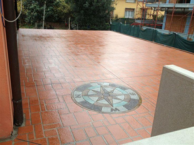 pavimento terrazza a finitura stampata