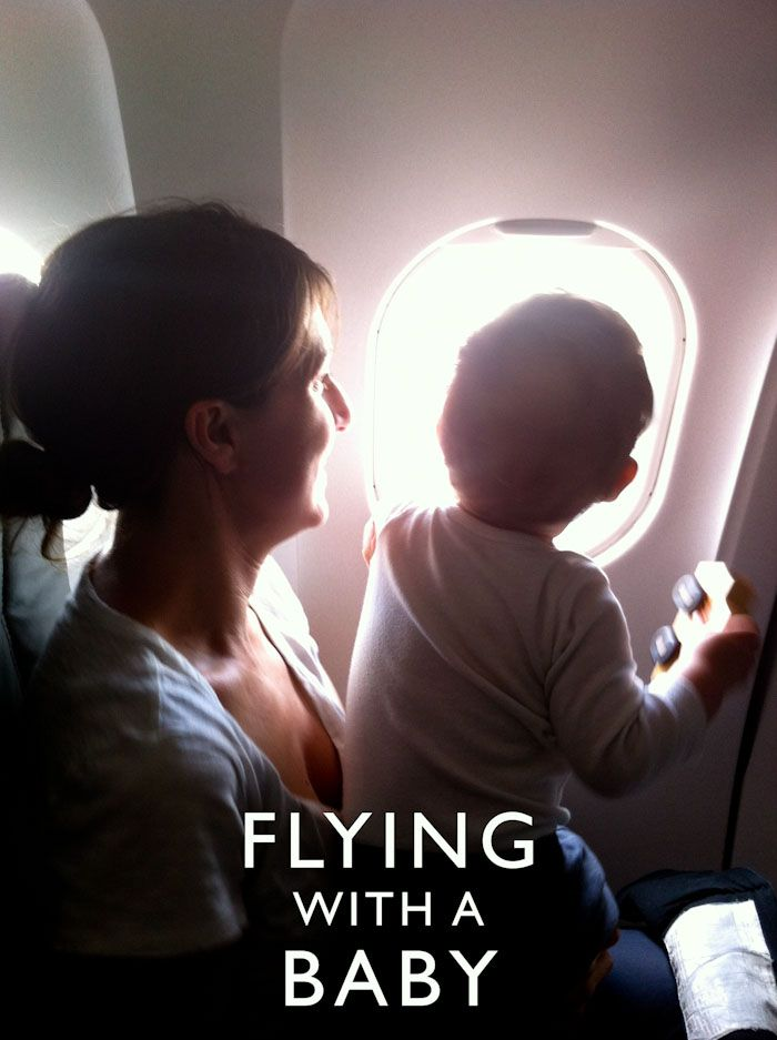 Flying with a baby or toddler Photo