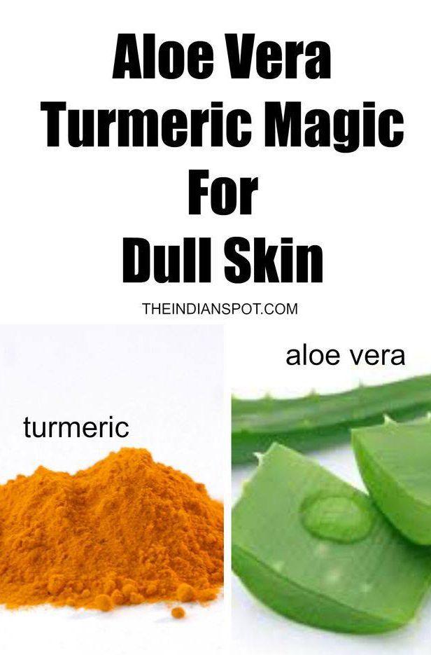 Turmeric & Aloe #NaturalRemedy #Health #Skin